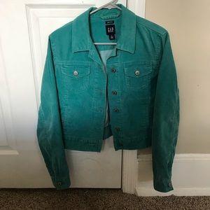 Gap stretch vintage teal corduroy jean jacket